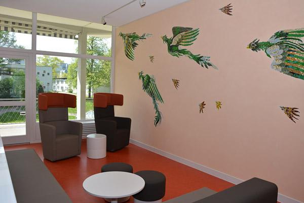vogel mosaike universit tsklinikum freiburg. Black Bedroom Furniture Sets. Home Design Ideas
